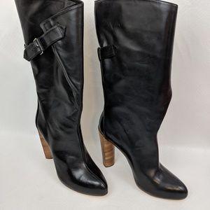 Boutique 9 Galen Black Leather Slouch Boots 8.5